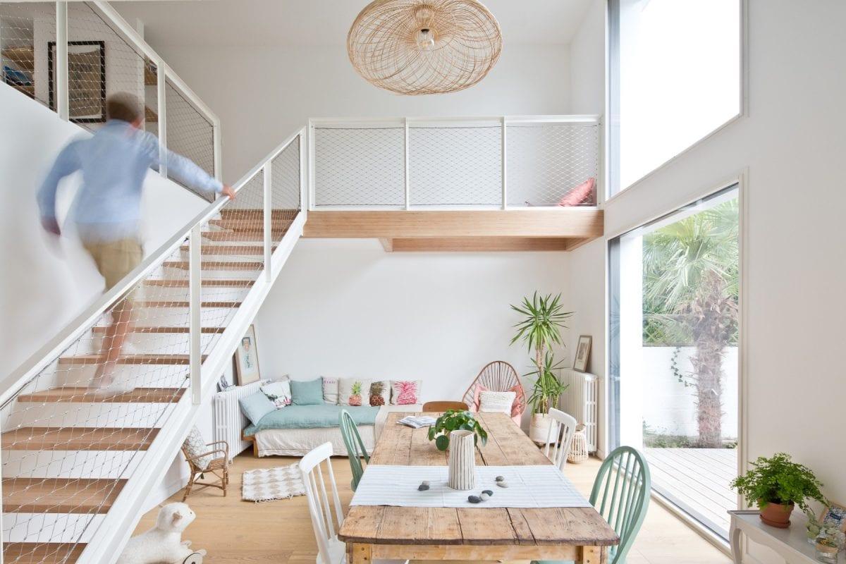 Rénovation d'une maison à Quimper par Archibien et son architecte - le salon