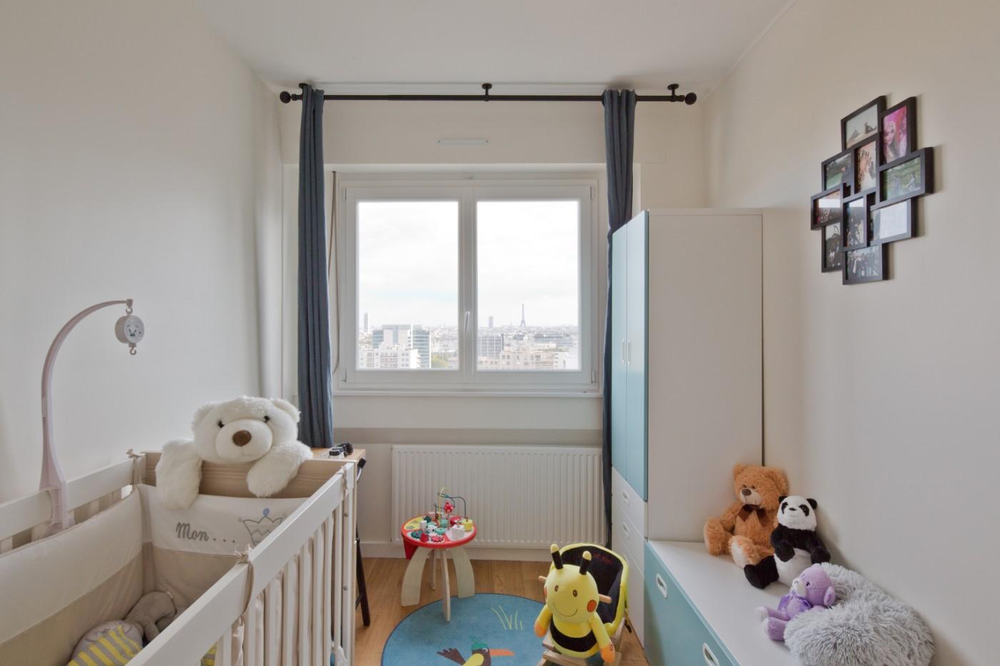 Chambre enfants rénovation de l'appartement de Courbevoie par Archibien