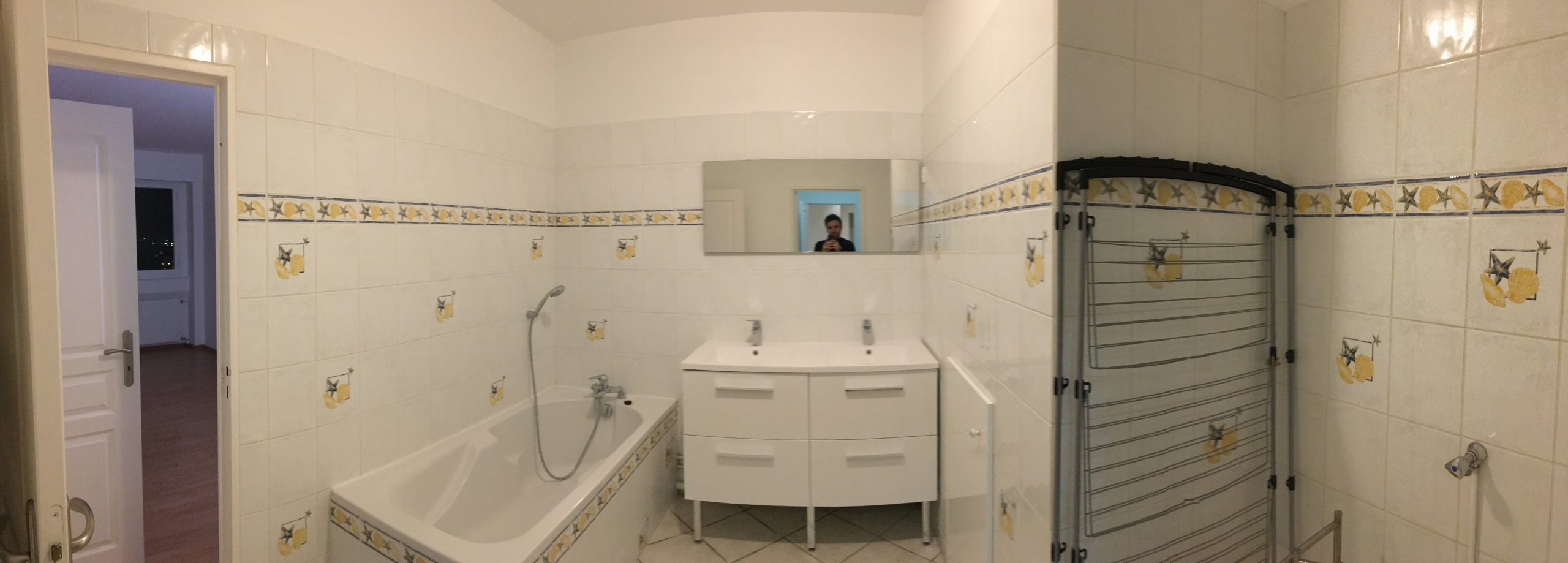 Photo avant travaux salle de bain de l'appartement - Archibien