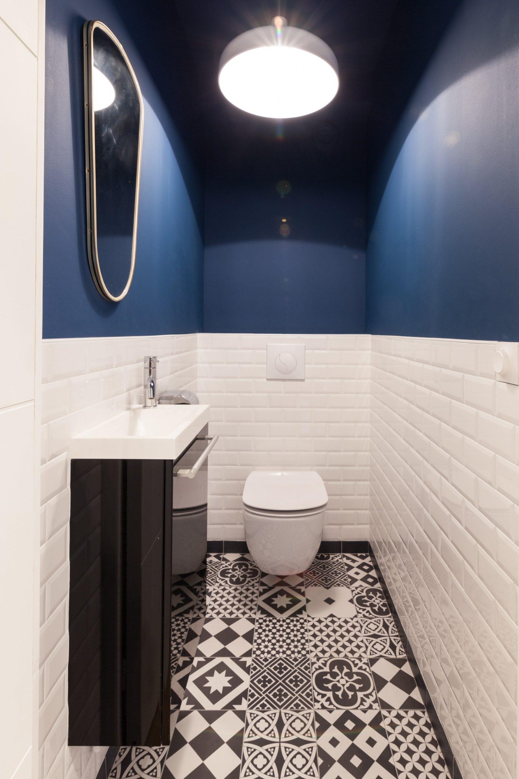 Rénovation d'un appartement dans Paris - les toilettes modernes Archibien