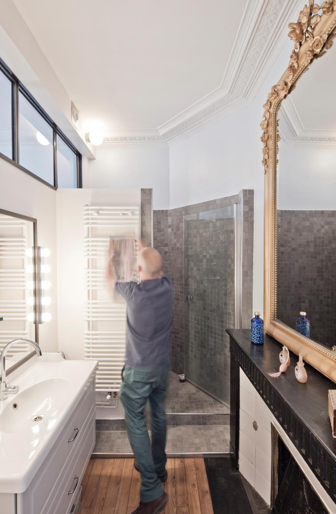 Rénovation d'un appartement haussmannien par un architecte Archibien