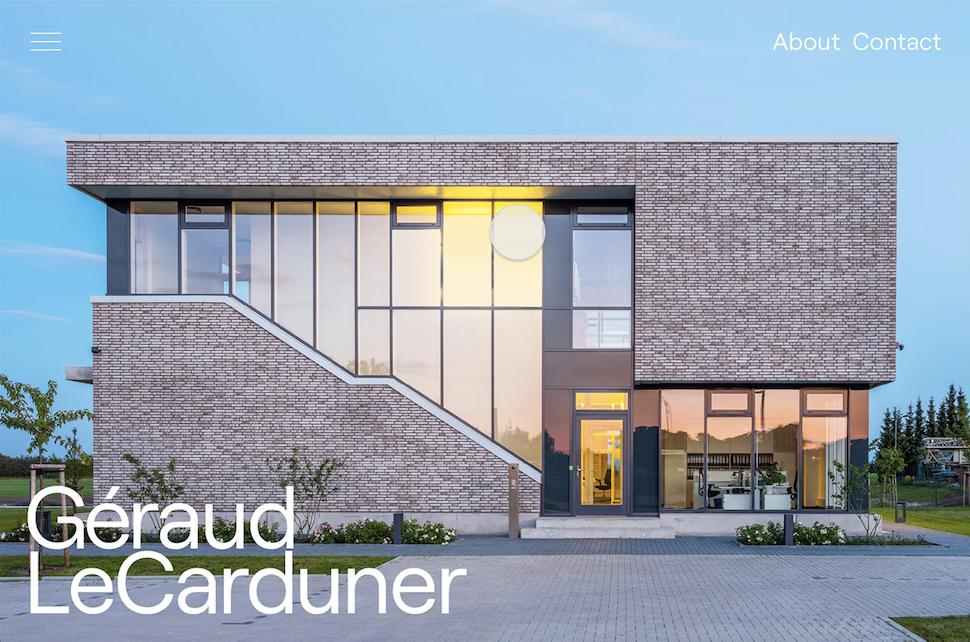 Extrait du site de Big Sur avec une façade de l'architecte Géraud LeCarduner