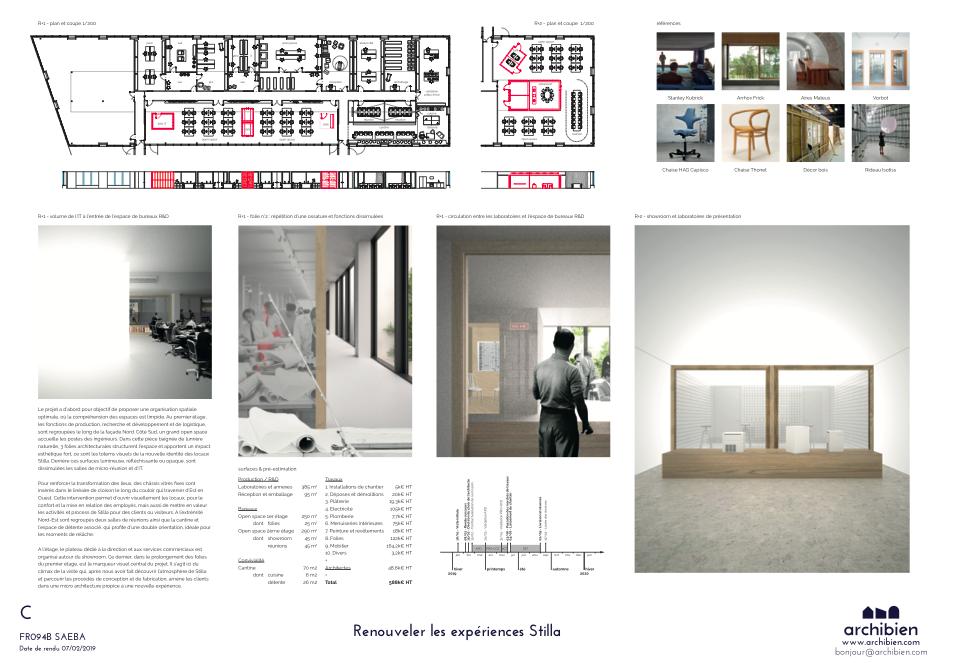 Planche de l'agence Vorbot, pour une rénovation à Paris par l'intermédiaire d'Archibien