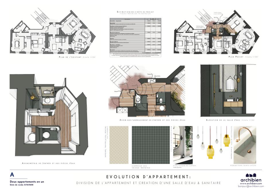transformer un appartement en deux appartements par Archibien et Baltique